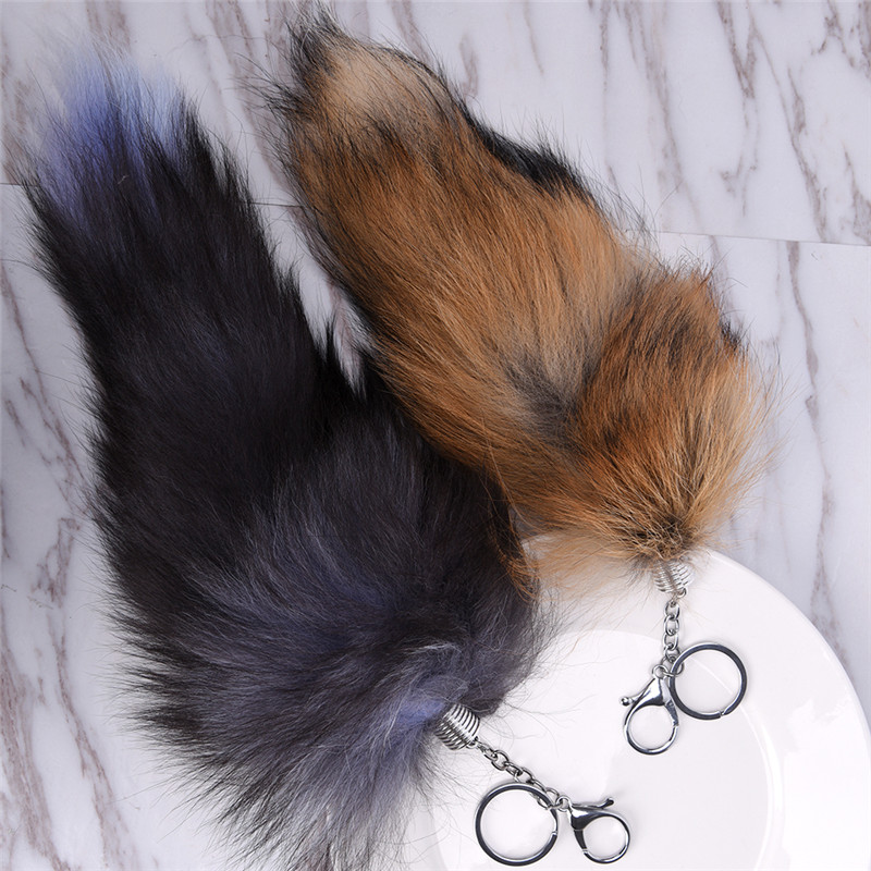 Charming Long Faux Fur Tail Keychain