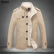 Xnxee 2018 New Winter Drop Shipping Mens Jacket Stand Collar Coat Slim  Men