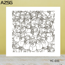 AZSG Snowman Background Clear Stamps/Seals For DIY Scrapbooking/Card Making/Album Decorative Silicone Stamp Crafts