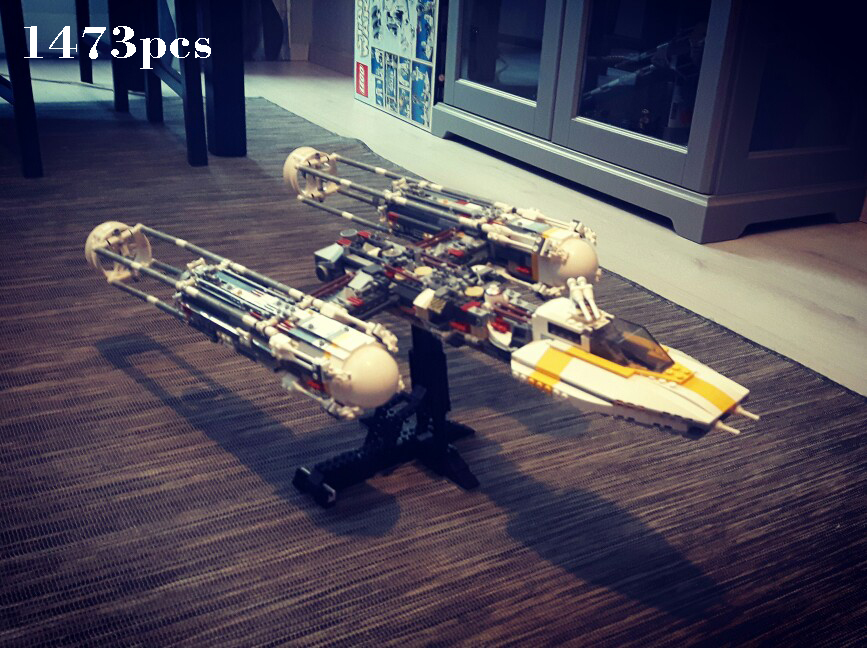 compatible Legoinglys Star Space Wars Series Y-wing Attack Starfighter 1473pcs Model Building Block brick Toys For Boy Gift