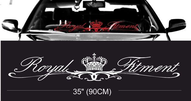 ROYAL fitment stance windshield windscreen front glass car ...