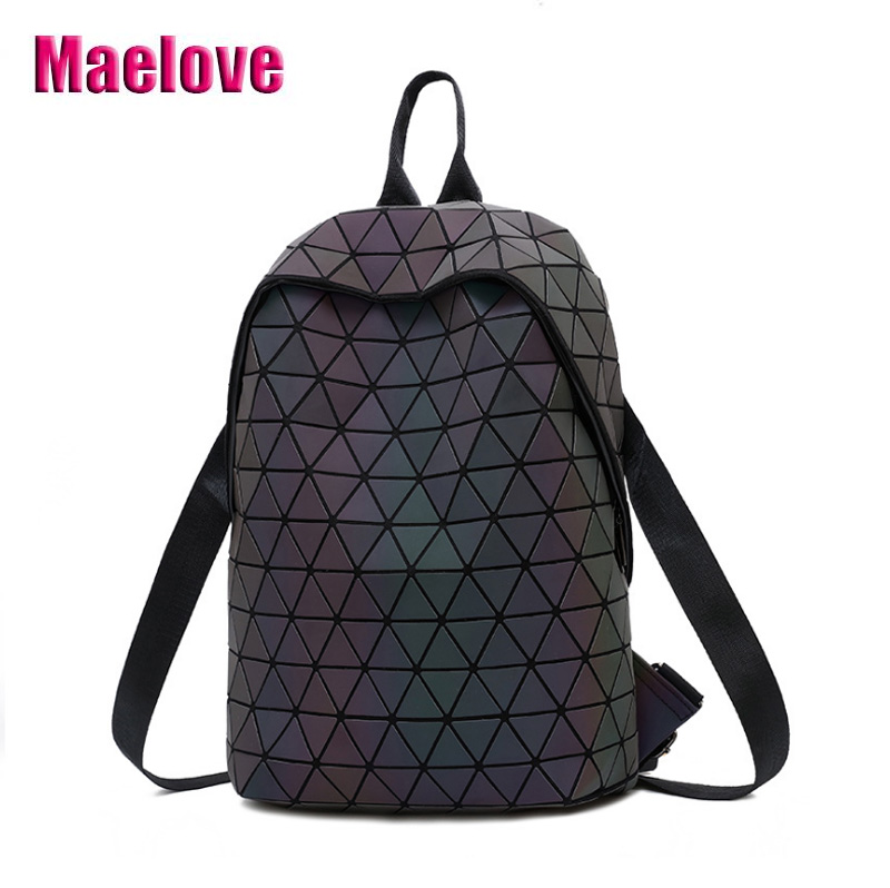 15c9a259045f 2019 NEW Luminous backpack Luxury geometric backpack Fashion women-bag  Noctilucent  Matte Color bag