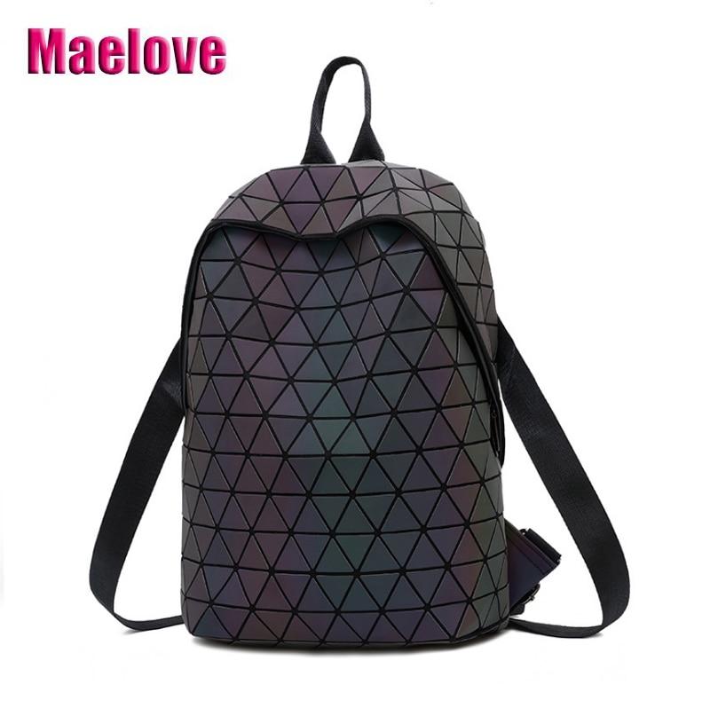 51cb72ec0090 2019 новый рюкзак с отражающими вставками роскошные Рюкзак с геометрическим  рисунком модные женские туфли-сумка