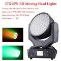 Новый Zoom Wash Moving Head светильник s 37X15W RGBW 4IN1 светодиодный Moving Head светильник s Профессиональный светодиодный вечерние бар DJ диско сценический св...