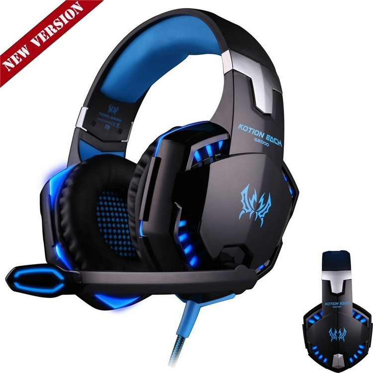 Anti-noise Dazzle Lights Hifi Stereo Gaming Headset For PC Gamer Bests Glow Headphones With Microphone USB+3.5mm Audio Cable (3)