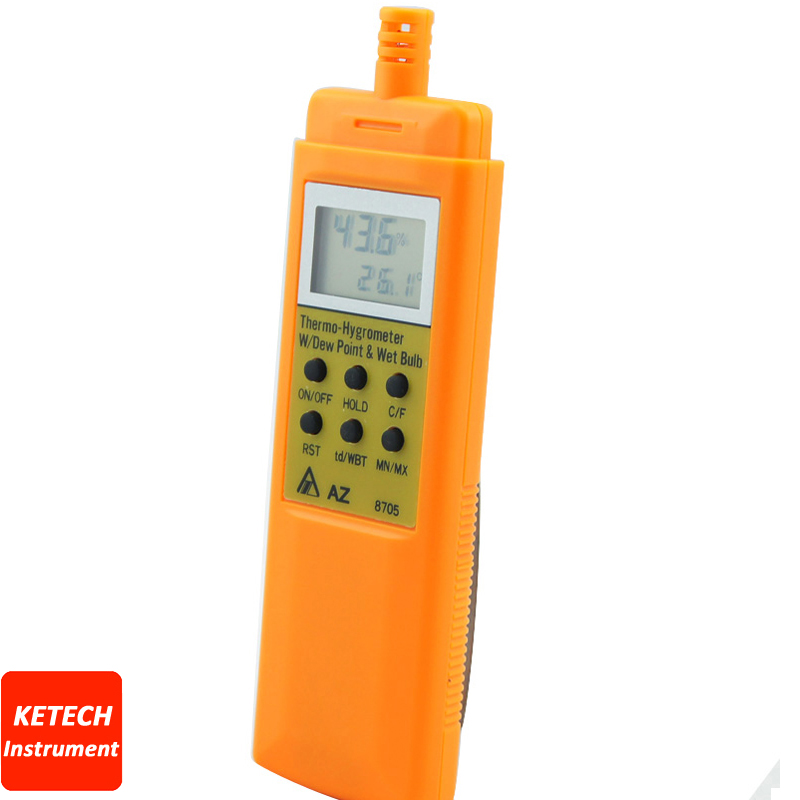 AZ8705 Handheld Dew Point & Wet Bulb Temperature Hygro-Thermometer Display ht 86 digital thermometer hygrometer wet bulb dew point temperature meter o0s0