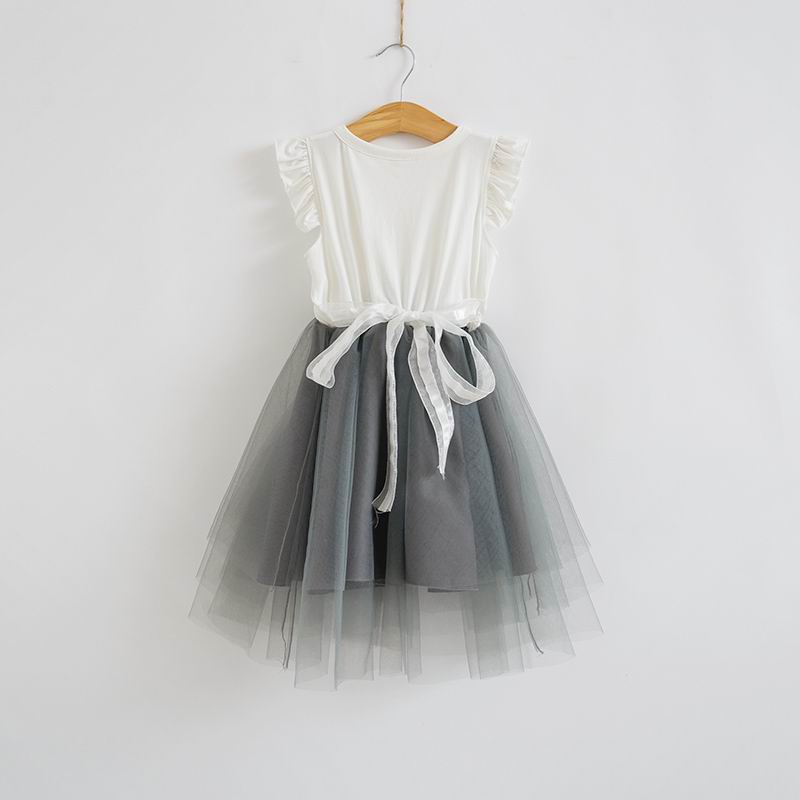 Flower Girl Dress 2017 Summer V neck Wedding Party Dresses Children ...