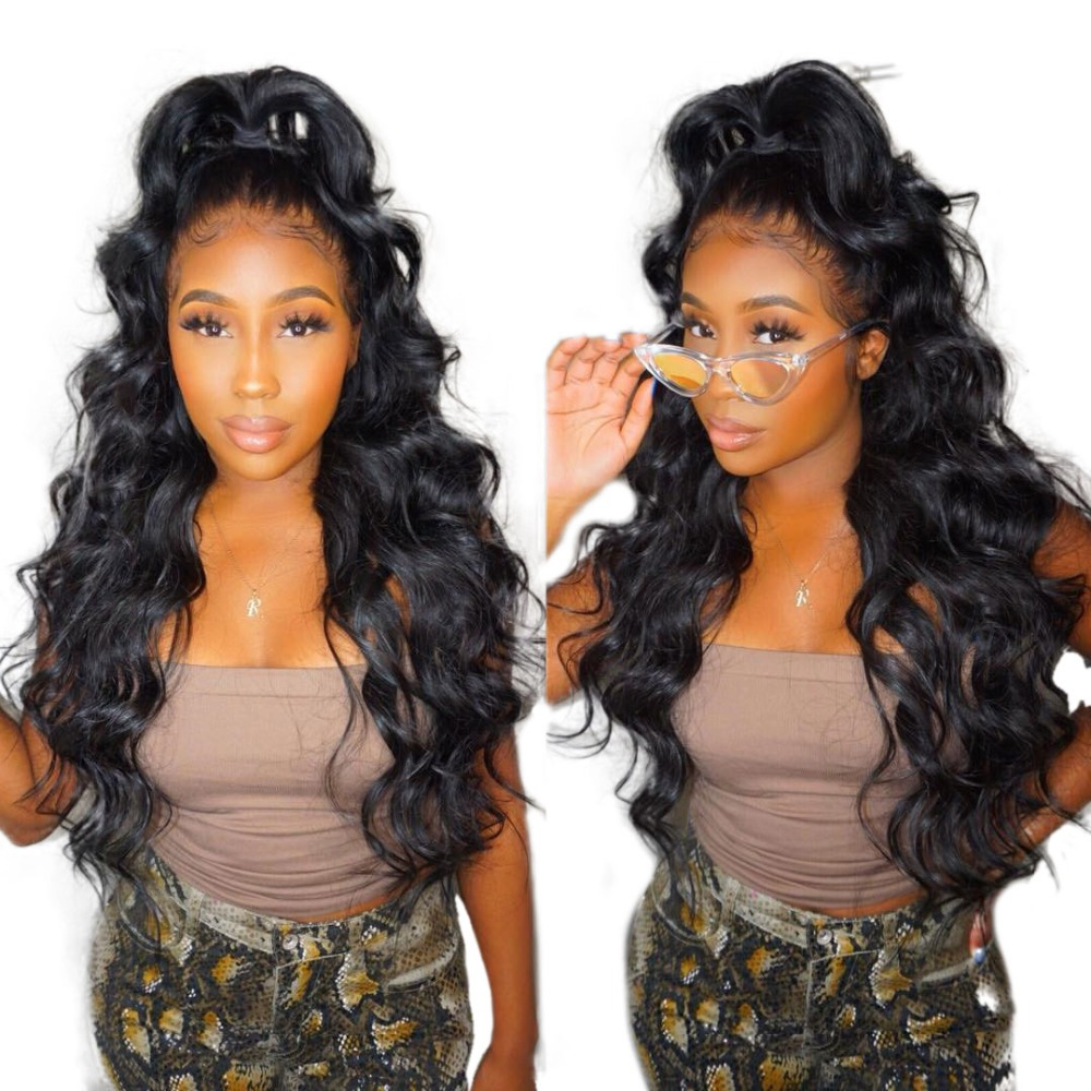 250% Ketumpatan 13x6 Lace Depan Manusia Rambut palsu Untuk Wanita - Rambut manusia (untuk hitam)