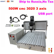 (Russain aucun impôt!) Mini CNC Fraiseuse CNC 3020 500 W Graveur Routeur Avec port USB, fin de Course pour le Travail Du Bois