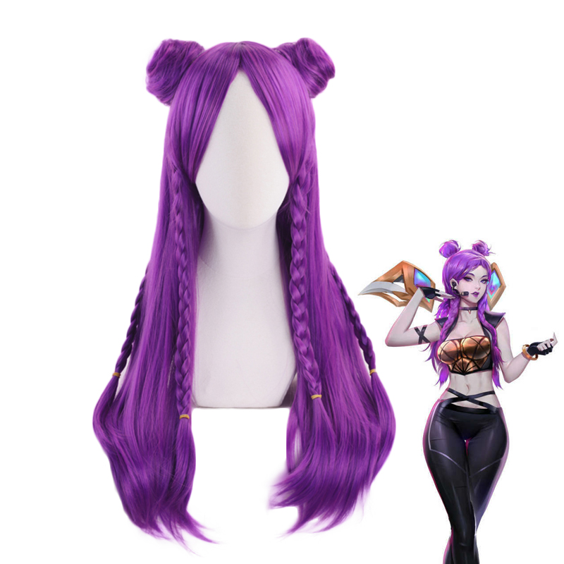 Game-LOL-K-DA-Anime-Party-Wig-Hair-Cosplay-Costume-Akali-Evelynn-Ahri-Kaisa-Hair-Cosplay (1)