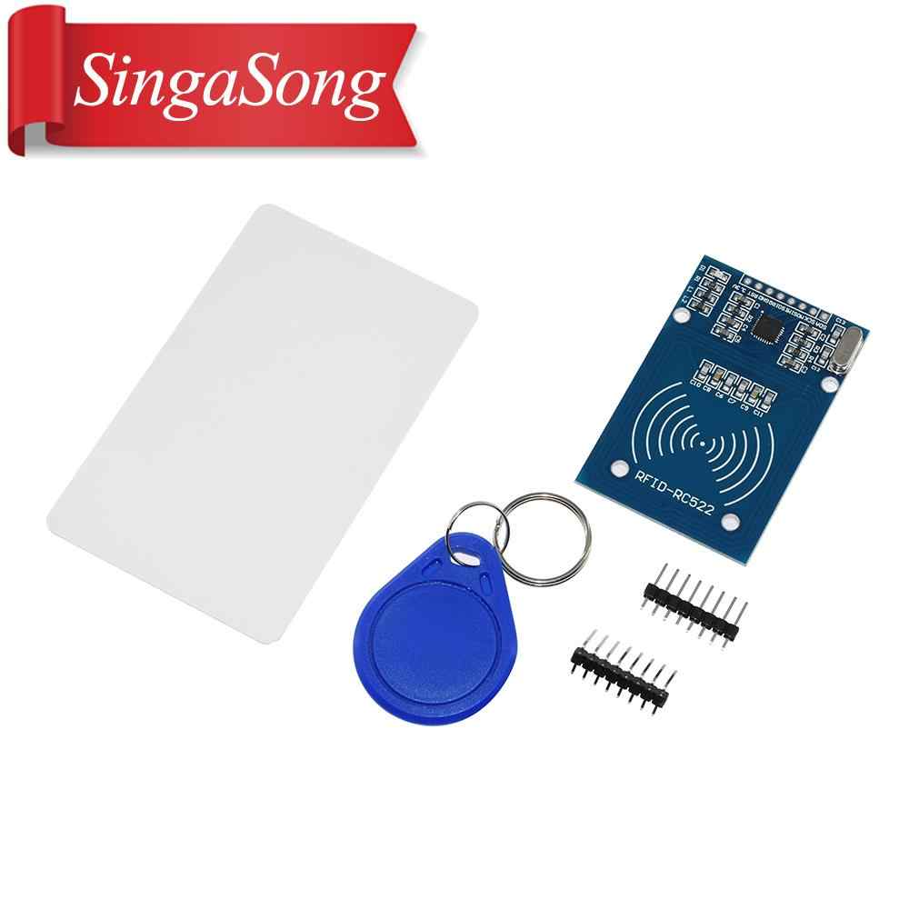 1 set MFRC-522 RC-522 RC522 13.56MHz RFID Module For arduino Kit SPI Writer Reader IC Card with the IC card with Software UNO
