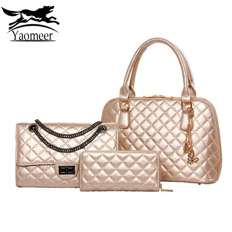 Famous Brand Italian Design Handbags Chain Quilted Women Bags Sets Luxury Pu Leather Shoulder Crossbody Bags Female Clutch Purse just william