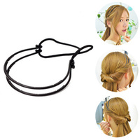 New Hair Braider Double Elastic Hair Band Adjustable Hair Braiding Tool Women Girl Hairstyle Bands Easy Makeup Home Gift 2017