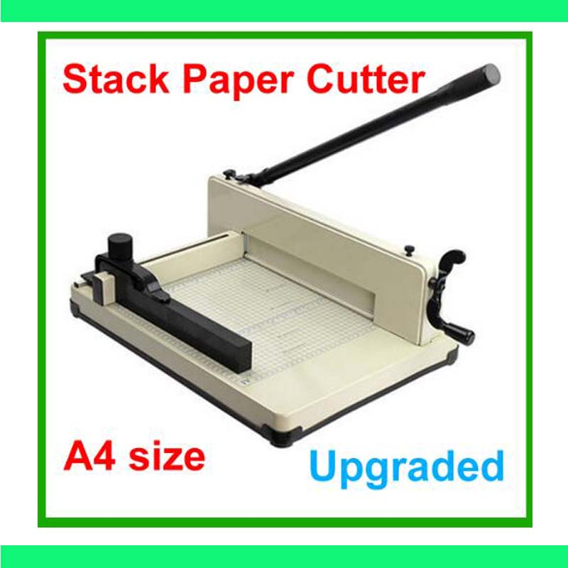 Mise à niveau New Heavy Duty A4 Taille Pile Cutter All Metal Ream Guillotine Aucun Assemblage Requis