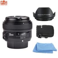 YONGNUO YN35mm AF/MF Foco Fixo Lente Da Câmera F2N f2.0 Wide-Angle F montagem para Nikon D5500 D7200D7100 D300 D500 saco lente DSLR Livre