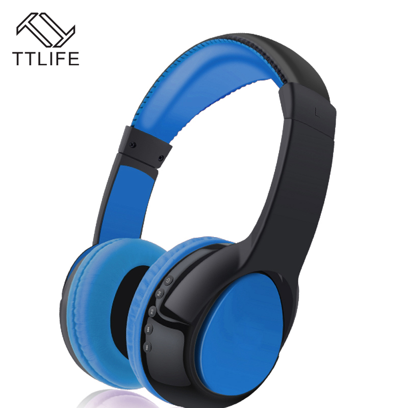 TTLIFE Brand S99 Noise Reduction Headphones Wireless Bluetooth Stereo Earphone Headset With Mic Support TF Card For Mobile Phone earfun brand big headphones with mic