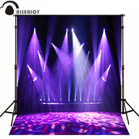 Allenjoy photographic background Stage lighting purple fashion photo backdrops for sale professional fabric vinyl Private party