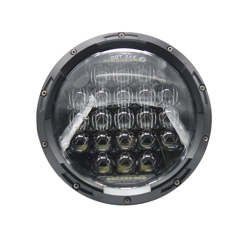 7Inch LED H4 Headlight With DRL For Land Rover 90/110 Defender Td5 7 LED Projector Daymaker With Daytime Running Light Headlamp