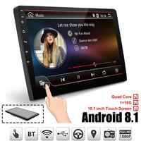 10,1 Zoll Android 8.1 Quad Core 1 + 16G Auto Multimedia-Player Auto Stereo 2DIN bluetooth WIFI GPS Nav Radio video MP5 Player