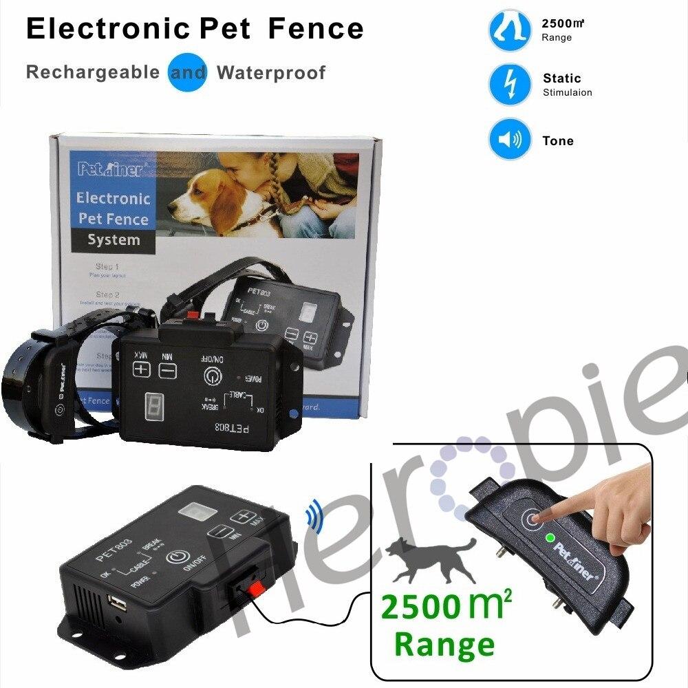 Best buy ) }}Heropie Newest type Petrainer PET803 Waterproof Rechargeable Electric Pet Fence Dog