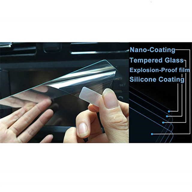 For Chrysler 200/300 / Pacifica 8.4 Inch Car Navigation Screen Protector Tempered Glass Touch Screen Protector 5