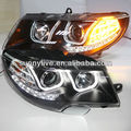 Para Skoda Superb LED Head Lamp Angel Eyes 2009-2013 ano Estilo U