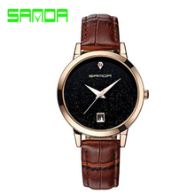 Waterproof Leather Woman Watch