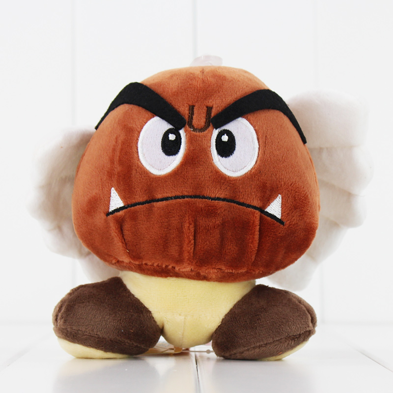 Super Mario Bros Goomba Poisonous Mushroom Plush Stuffed Dolls