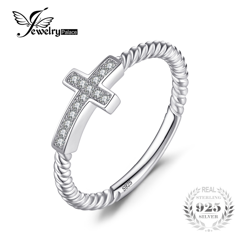 jewelrypalace cross round cubic zirconia peace statement