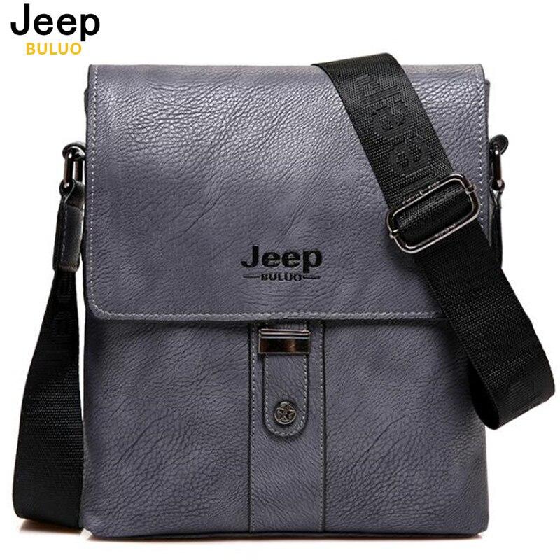 JEEP BULUO Brand Men Bags Cow Split Leather Fashion Male Messenger Bags Men s Briefcase Man