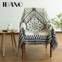 Cotone copriletto coperta divano copertura 130x180 cm vintage ibano filo coperta per la casa decorativo beed lenzuola pavimento zerbino tovaglia