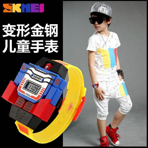 SKMEI boy creative electronic children fashion personality cartoon wrist watch Casual Outdoor Swim Digital Waterproof