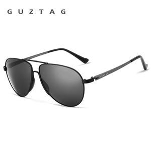 Image 2 - GUZTAG gafas de sol clásicas para hombre y mujer, lentes de sol de aluminio de gran tamaño, polarizadas, con protección UV400, G8005