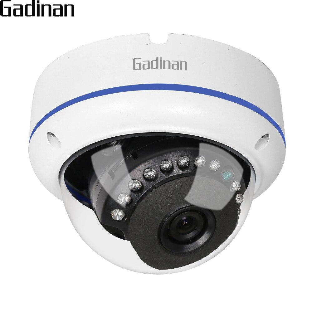 GADINAN Onvif IP Camera 1080 P 15fps/960 P 22FPS/720 P 25fps 2.8mm Grandangolare Vandal-proof Dome IP Camera Surveillance 48 V POE