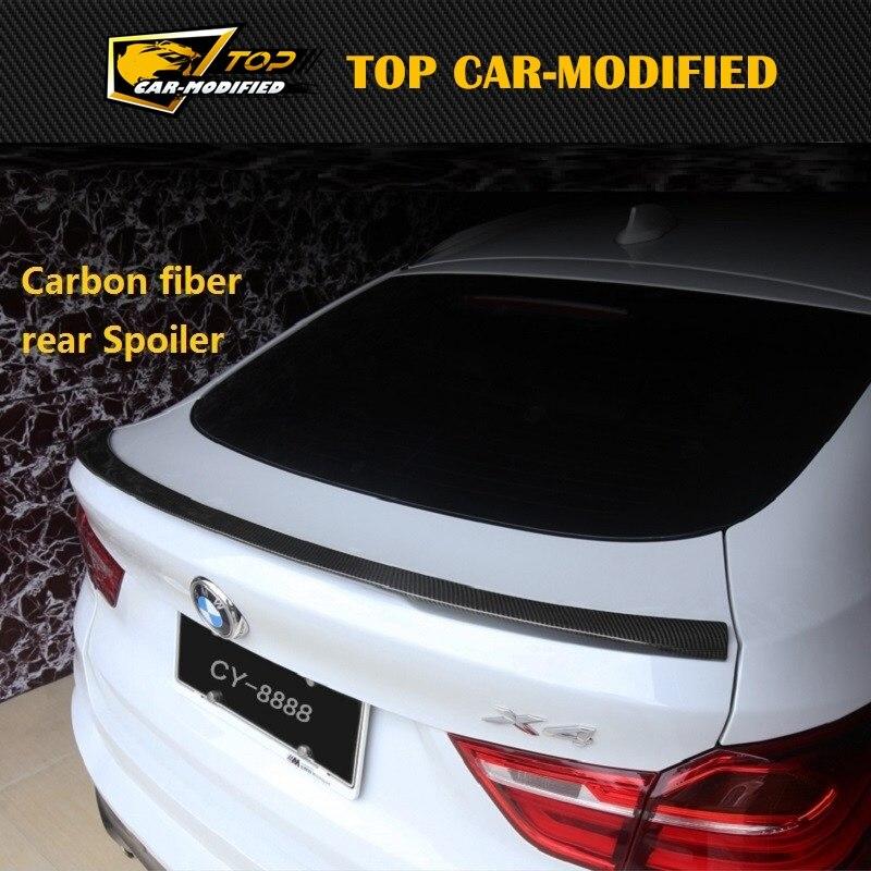 Livraison gratuite aile de Spoiler de voiture en Fiber de carbone Style M pour BMW F26 X4 2014UP