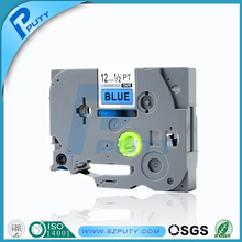 High Quality p touch tz tapes Compatible TZ TZe 531 laminated label tapes black on blue