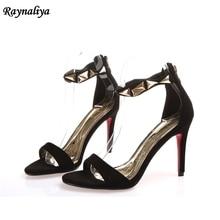 купить Spring Summer Open Toe Sandals Fashion Elegant Sexy Retro High Thin Heels Shoes 2108 New Woman Female Shoes XZL-B0062 по цене 1276.36 рублей