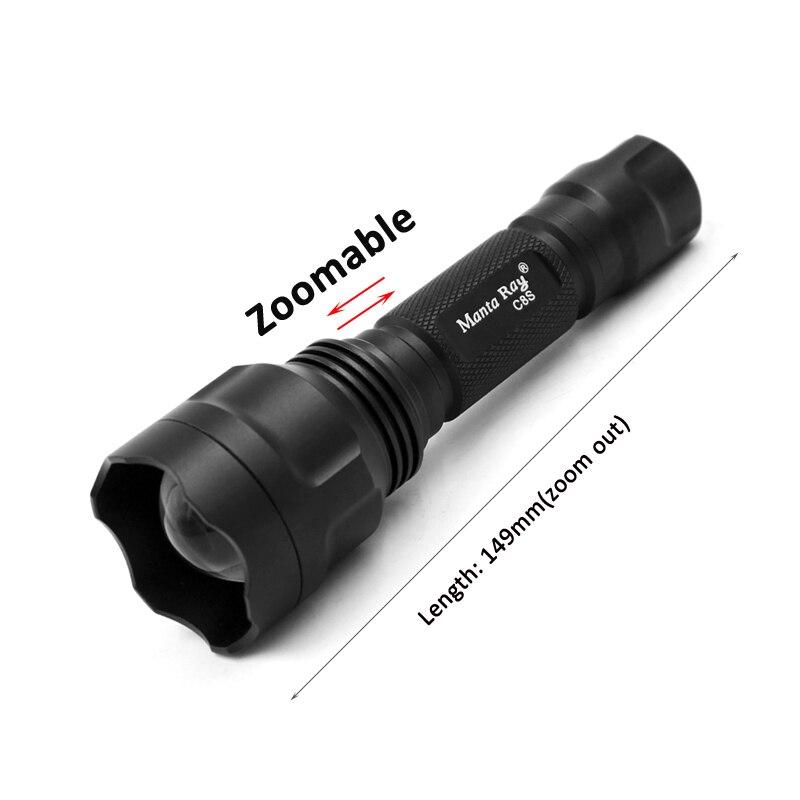 ズームマンタ C8s 黒 UV 365nm Led 懐中電灯、日亜化学工業 365UV 6 ワット側、 UV ランプライト、蛍光剤検出、 UV 硬化  グループ上の ライト & 照明 からの LED フラッシュライト の中 2