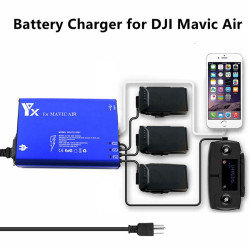 Fast Charger 5 in 1 Multi Rapid Intelligent Battery Charger Quick Charging Hub for DJI Mavic Air Drone Battery