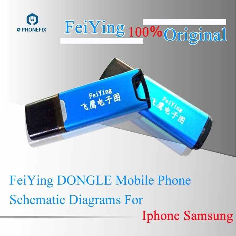 PHONEFIX livraison gratuite Feiying Dongle Guide de réparation de téléphone portable PCB carte mère dessins pour iPhone iPad Samsung Xiaomi