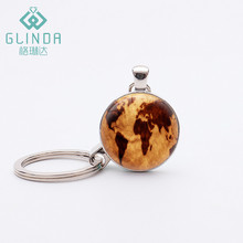 GLINDA Vintage Globe Keychains Planet Earth World Map Art Silver Plated Pendant Key chains Key rings Birthday Gifts Motorcycle K