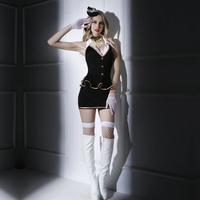 Sexy Baby doll Lingerie Sexy Cosplay Airline Stewardess Student Uniform Erotic Lingerie Plus Size