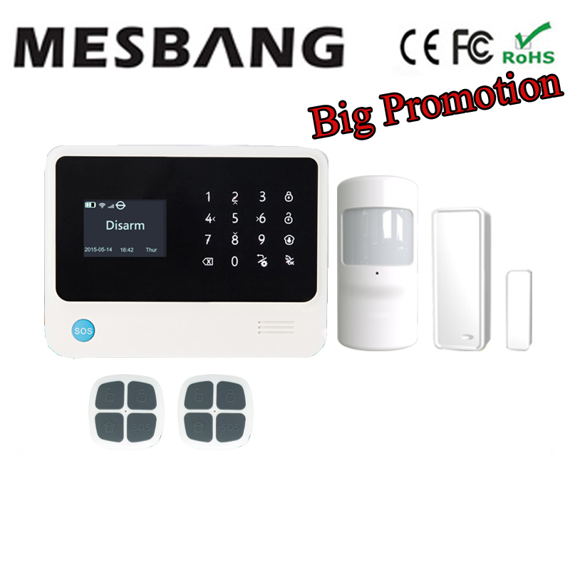 GSM alarm system wifi alarm system home security alarm system wireless with English, French,Russian,Spanish,Dutch and APP free shipping guard english french app wireless gsm pstn phone alarm security system built in speaker for intercom security