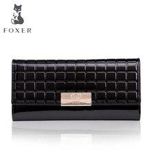 FOXER Famous 2016 Brand Women Leather Long Wallet Luxury Female Purse