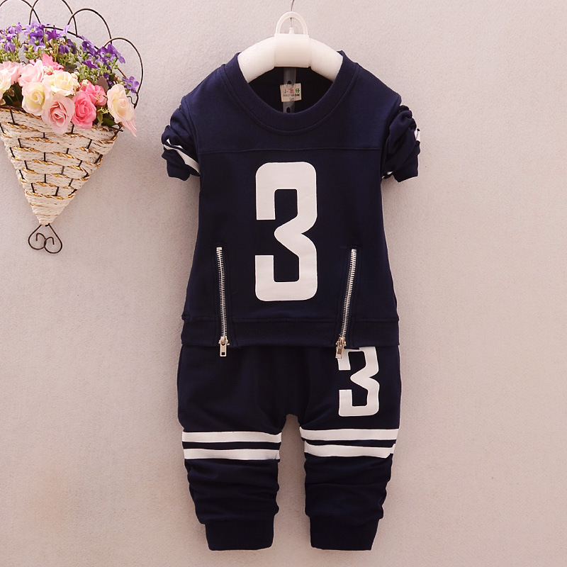 4colors font b Boys b font Clothing 2016 Casual Kids Suits Spring Autumn Letters Tshirt Pants