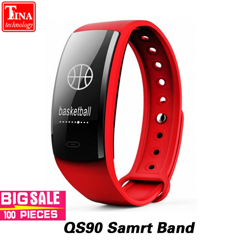 Original QS90 Blutdruck Smart Armband Herz Rate Monitor Blut Sauerstoff Monitor Fitness Tracker für Andriod IOS VS QS80
