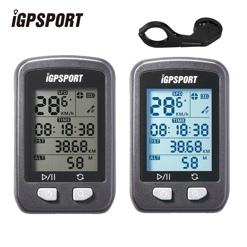 IGPSPORT Vélo GPS Ordinateur IPX6 Imperméable Vélo Compteur De Vitesse Sans Fil Numérique Compteur De Vitesse Chronomètre Vélo Vélo Équipement De Sport Accessoires De Vélo