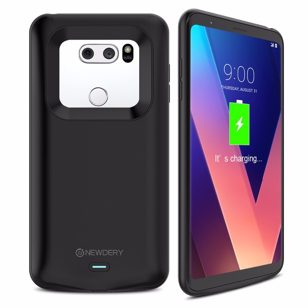 Newdery 4200mAh Slim Portable Charging Case for LG V30 / V30+ Extended Battery Case Type C with Full Coverage Protection