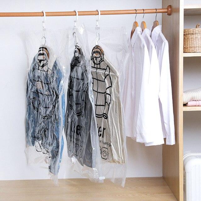 Vacuum Bag Clothing Storage Organizer Bag Transparent Border Foldable Extra Large Seal Compression travel Saving Space Bags
