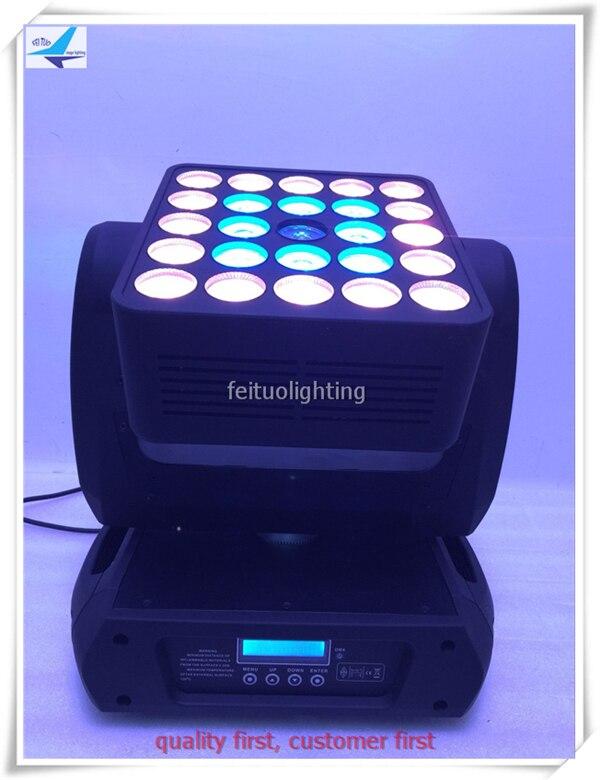 A-(4/lot) Best price 5x5w matrix light 25x12w 4 in 1 led matrix moving head light Disco, Stage, decoration